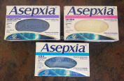 Asepxia Moisturising + Neutral + Scrub Soaps Cleansing Bars Combo. Removes Oil & Impurities (3 Pack).. HPVagr