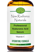 New Radiance Naturals - Anti-Ageing GUARANTEED Best Results Natural & Organic Hyaluronic Acid Serum With Vitamin C + E + MSM + Organic Aloe For Looking Younger, Restoring Hydration, Increasing Elasticity & Smoothing Skin on Face. 30ml