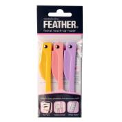 Feather FLAMINGO Facial Touch-up Razor 3pcs