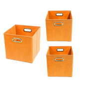 Modern Littles Organisation Bundle-3 Storage Bins, Bold Orange