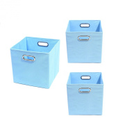 Modern Littles Organisation Bundle-3 Storage Bins, Sky Blue