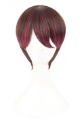 MapofBeauty Mixed Colour Short Straight Cosplay Costume Wig