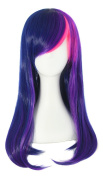 MapofBeauty 55cm Multi-Colour Long Straight Cosplay Wig
