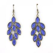 Elegant Simple Gold Tone Leaf Shape Dangle Drop Earrings