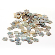 Skyus® Lot 100 Mother of Pearl Flower Craft Shell Buttons 15mm CHIC