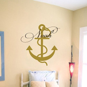 Wall Decal Boy Custom Personalised Name Sea Theme Kids Anchor Vinyl Decal Sticker Home Decor Living Children's Baby Room Nursery ML247