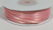 0.3cm Satin with Gold Edge - 50 Yards