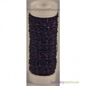 FloristryWarehouse Bullion Floristry Wire Reel 25ml Lilac Purple