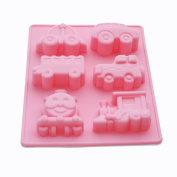 X-Haibei Cute Choo Choo Train Car Transportation Soap Silicone Mould Muffin Cake Chocolate Fimo Kids Favour