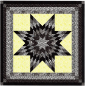 Lonestar Shades of Black, White, and Grey Quilt Kit/Queen