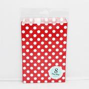 8CT Polka Dots Kraft Treat Bags - Favour Bags