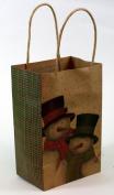 Expressive Designs Kraft Gift Bag - Cub Size - Christmas Snowman