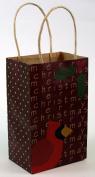 Expressive Designs Kraft Gift Bag - Cub Size - Christmas Cradinal & Holly