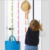 Ieasycan Over The Door Adjustable Hat Hooks 18cm Rail With 6 Coat Hooks, No Need Drill Into The Walls, With No Screws Or Other Hardware Required Help Organise A Space Used In Closets, Bedrooms, Doorway , Entryway, Behind Doors, Lockers, Kitchens, Bathr ..