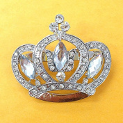 Set of 12 Large Rhinestone Crown Brooch 47mm X 55mm Use for Wedding Bouquet . Bridal Sash , Embellishment , Wedding Favour, Dress Appliqué ,