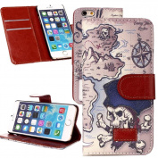For iPhone 6 (12cm ), Wallet Case Cover Flip Type by Juzi(TM) - with Credit Card Slots - Only for iPhone 6