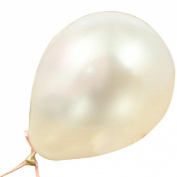 Aimeart Multicolor Pearly Lustre Latex 1.2g Round Balloons For Wedding Party Room Decor, Silver