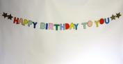 Meri Meri Multi-Colour Glittered Happy Birthday Banner