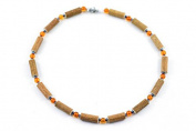 Healing Hazel Hazelamber Children Necklace, Hematite/Amber