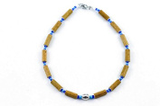 Healing Hazel Hazelwood Children Necklace Boy Pendant, Metallic Pendant/Turquoise/Dark Blue