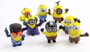 8pcs/lot Minions New Model Cosplay Vampire & Primitive & Pirate 4cm Action Figure Toys