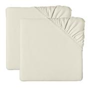 bkb Bassinet Sheet Poly/Cotton, Ecru, 43cm x 80cm