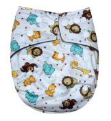 """See Nappies Bamboo Charcoal One Size Baby Cloth Nappy 2 Bamboo Inserts """" Animals """""""