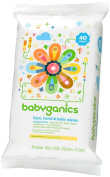 Babyganics Baby Wipes Unscented 40ct