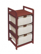 Badger Basket Company Three Drawer Hamper/Storage Unit in Cherry
