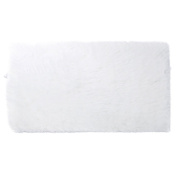 RugMall Rectangle Faux Fur Shaggy Rug 50cm by 80cm Colour White