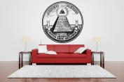 Wall Room Decor Art Vinyl Sticker Mural Decal Mormon Logo Pyramid All Seeing Eye Horus Logo AS2484