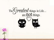 Wall Vinyl Decal #1 The greatest things in life are not things V1 vinyl saying lettering wall art inspirational sign wall quote decor