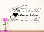 Wall Vinyl Decal First we had each other nursery vinyl saying lettering wall art inspirational sign wall quote decor