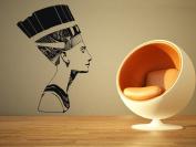 Wall Room Decor Art Vinyl Sticker Mural Decal Nefertiti Queen Head Face Egypt AS2418