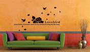 Aiwall Wall Stickers Loving Bird for Living Room DIY Home Decorations Wall Decals 9127