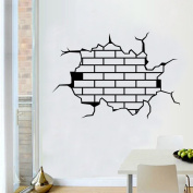 3d Breaking Wall Stickers for Sport Room Living Room Girl Home Decorations Wall Decals Wall Men Women 9304