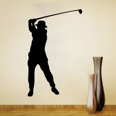 Aiwall 9305 Golf Wall Stickers for Sport Room Living Room Girl Room Decorations Wall Decals Wall Men Women Cartoon