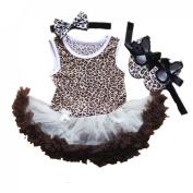 Leopard Print Infant Baby Girls Tutu Romper (S