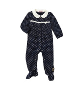Juicy Couture Baby Girls Polka Dot Footie Logo Coverall