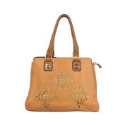 Premium Soft Glitter Floral Satchel Top Handle Shoulder Bag Handbag -Diff Colours