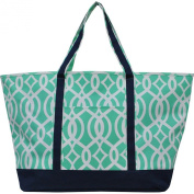 Geometric Vine Pattern Canvas Fashion Tote Bag