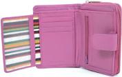 Ladies / Womens Large Soft Leather Bi-Fold Credit Card / Money Wallet