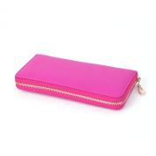 Womens Bailey Leather Single Zipper Large Capacity Big Useful Purse Long Wallets