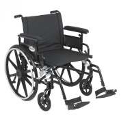 Drive Medical Viper Plus GT Wheelchair with Flip Back Removable Adjustable Full Arms, Swing away Footrests, 60cm Seat , Model - PLA422FBFAAR-SF