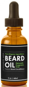 Premium Beard Oil & Conditioner, Made in U.S.A. 100% Organic Fragrance Free Blend of the Highest Quality Essential Oils! Guaranteed to Deeply Nourish, Moisturise and fully Tame your Beard and Moustache - LARGE 60ml Bottle!
