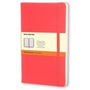 Moleskine Classic Notebook, Pocket, Ruled, Geranium Red, Hard Cover