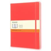 Moleskine Classic Notebook, Extra Large, Ruled, Geranium Red, Hard Cover