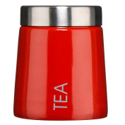 Premier Housewares Conical Tea Canister - Red