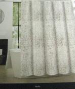 Tahari Nedie Fabric Shower Curtain Paisley - Grey/White 180cm x 180cm
