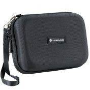 Caseling Hard Carrying GPS Case for up to 13cm Screens. For Garmin Nuvi Tomtom Magellan GPS - Black